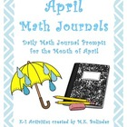 Daily Math Journal Prompts - April