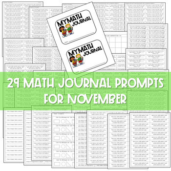 Daily Math Journals for November