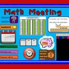 Daily Math Meeting Using Interactive Math Wall (Aligned to