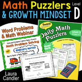 Daily Math Puzzlers Level D Word Problems