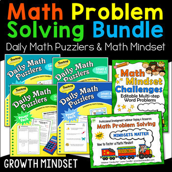 Daily Math Puzzlers Word Problems Combo (Single Classroom)