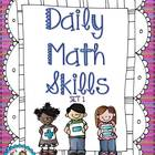 Daily Math Skills {Set 1}