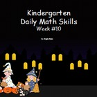 Daily Math Skills Week 10 Halloween Theme