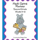Daily Math Spiral Review For Second Grade,  Weeks 2-5