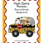 Daily Math Spiral Review for Second Grade, Weeks 14-17