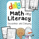 Daily Math and Literacy Winter {December and January} Common Core
