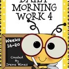 Daily Morning Work 4 ~ Language Arts & Math ~ Common Core