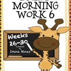 Daily Morning Work 6 ~ Language Arts & Math ~ Common Core