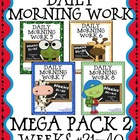 Daily Morning Work Mega Pack 2 ~ Language Arts & Math ~ Co