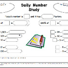 Daily Number Study Worksheet FREE - Ready to download and use