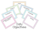 Daily Objective Posters