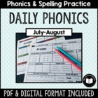 """Daily Phonics"" Word Work (July - August)"