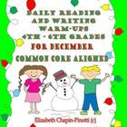 Daily Reading and Writing Warm-Ups 4th, 5th, 6th Grade Com