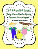 Daily Reading and Writing Warm Ups for Spring Common Core Aligned