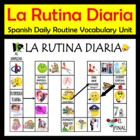 Daily Routine Spanish Vocab Activities & Games Unit (La Ru