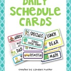 Daily Schedule Card Printables (free!)