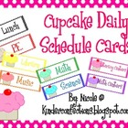 Daily Schedule Cards- Cupcakes!!