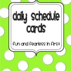 Daily Schedule Cards, Small