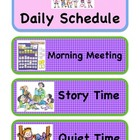 Daily Schedule Cards(Pocket Chart/Board)