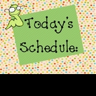 Daily Schedule Classroom Poster Sign