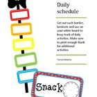 Daily Schedule Rainbow fun