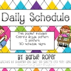 Daily Schedule with colorful Argyle