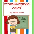 Daily Schedule/Agenda Cards