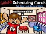 Daily Scheduling Cards - Editable