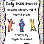 Daily Skills Sheets Unit 4 Reading Street Grade 2, 2011 &