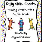 Daily Skills Sheets Unit 5 Reading Street Grade 2, 2011 Series