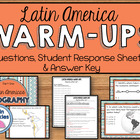 Daily Social Studies Warm-Ups (or Study Guide) -- Latin America