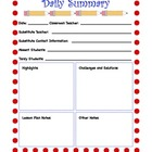Daily Summary Form