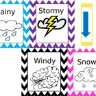 Daily Weather Board Bright Colors and Chevron Border