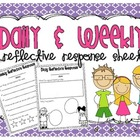 Daily &amp; Weekly Reflective Response Sheets