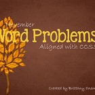 Daily Word Problems (November)- CCSS aligned