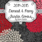 Teacher Binder - Chalkboard Damask and Peony