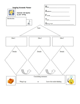 Dangling diamonds graphic organizers with RAFTS