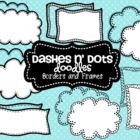 Dash N&#039; Dots Doodles {Borders &amp; Frames}