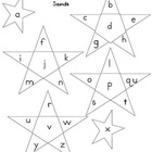 Data Folder Sheet- Stars with letters for sounds