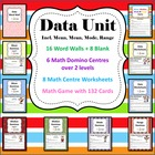Data Unit - 6 Math Center/Literacy/ 8 Worksheets, Game & Wordwall