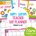 Day Planner - Happy Garden Theme - Organizers and Timetable