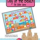 Day at the Beach Customizable File Folder Game Board