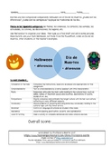 Day of the Dead and Halloween Comparison Composition - SPANISH
