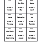 Days, Months, Seasons, Weather in Latin Habeo Qui habet activity