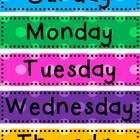 Days of the Week Cards - Multi Polka Dot