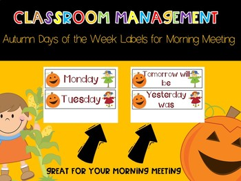 Days of the Week Classroom Labels