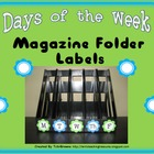 Days of the Week Magazine Folder Labels - Turquoise and Li