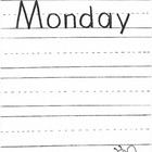 Days of the Week - Practice writing pages for each day of