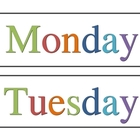 Days of the Week - Simple Rainbow Theme
