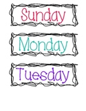 Days of the Week by Miss Sharp